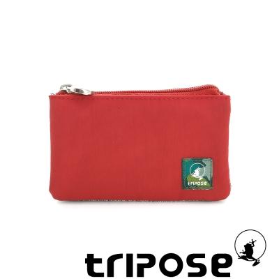 tripose 漫遊系列岩紋簡約微旅萬用零錢包 番茄紅