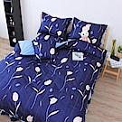 艾莉絲-貝倫 湛藍鬱金香 100%純棉 五件式單人鋪棉床罩組