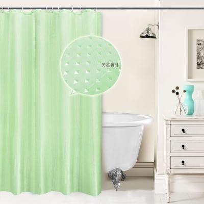 LISAN特級加厚防水浴簾A-015經典不凡 閃亮之星-果綠