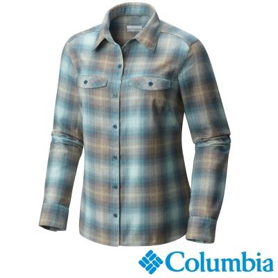 Columbia哥倫比亞  女款-法蘭絨保暖快排襯衫-綠色格紋 UAK02890GX