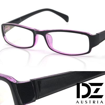 DZ-簡約流線-防輻平光眼鏡-外黑內紅