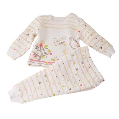 條紋圓點超厚三層棉睡衣套裝 k 60168