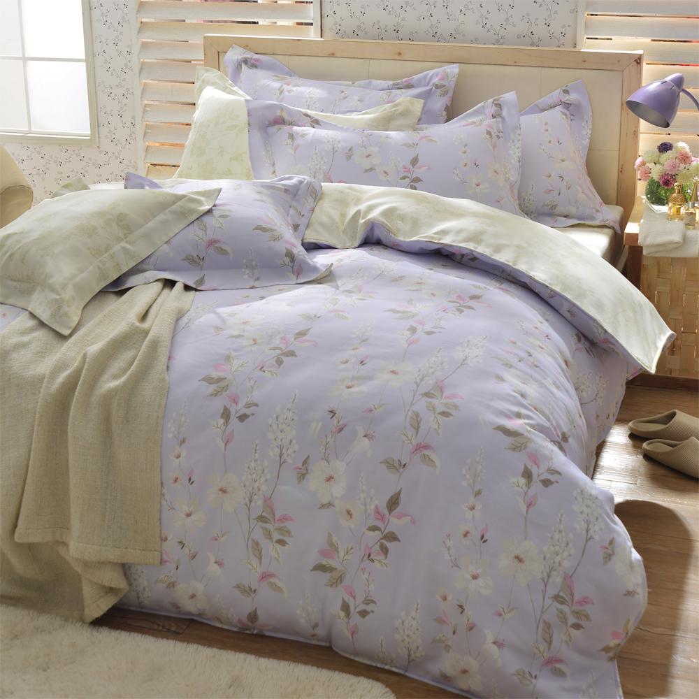 羽織美 芙蓉花都 天絲特大兩用被床包四件組(台灣製造)