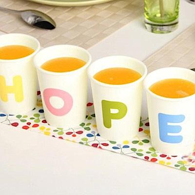 iSFun彩色字母 居家防摔塑膠杯4件組