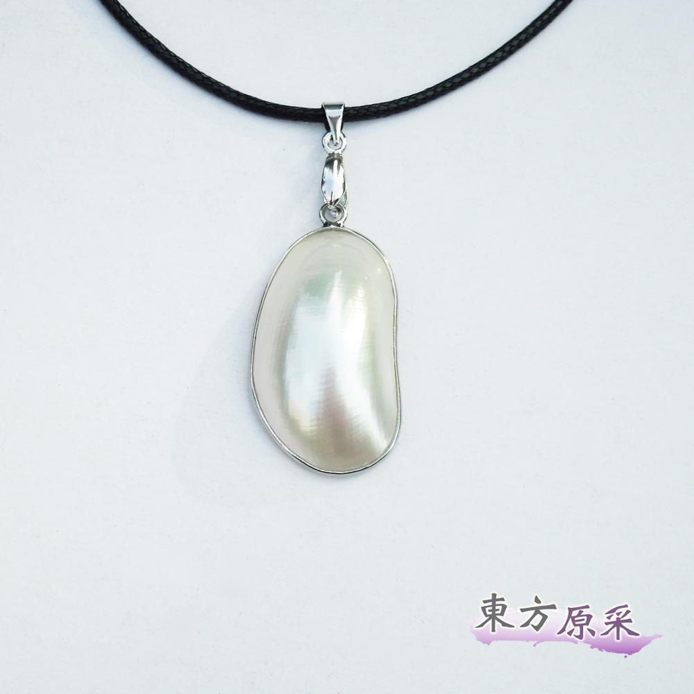 東方原采-自然系亮麗白螺項鍊