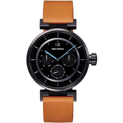 ISSEY MIYAKE 三宅一生W系列mini設計腕錶SILAAB04Y-黑/39mm