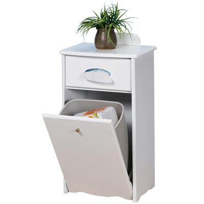 《Homelike》典雅歐風靚白垃圾桶櫃