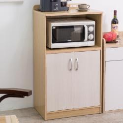 TZUMii 奇普雙門廚房收納櫃-白橡木配白
