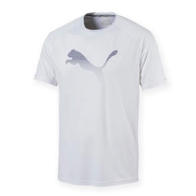 PUMA-男性慢跑系列大跳豹短袖T恤-白色-歐規