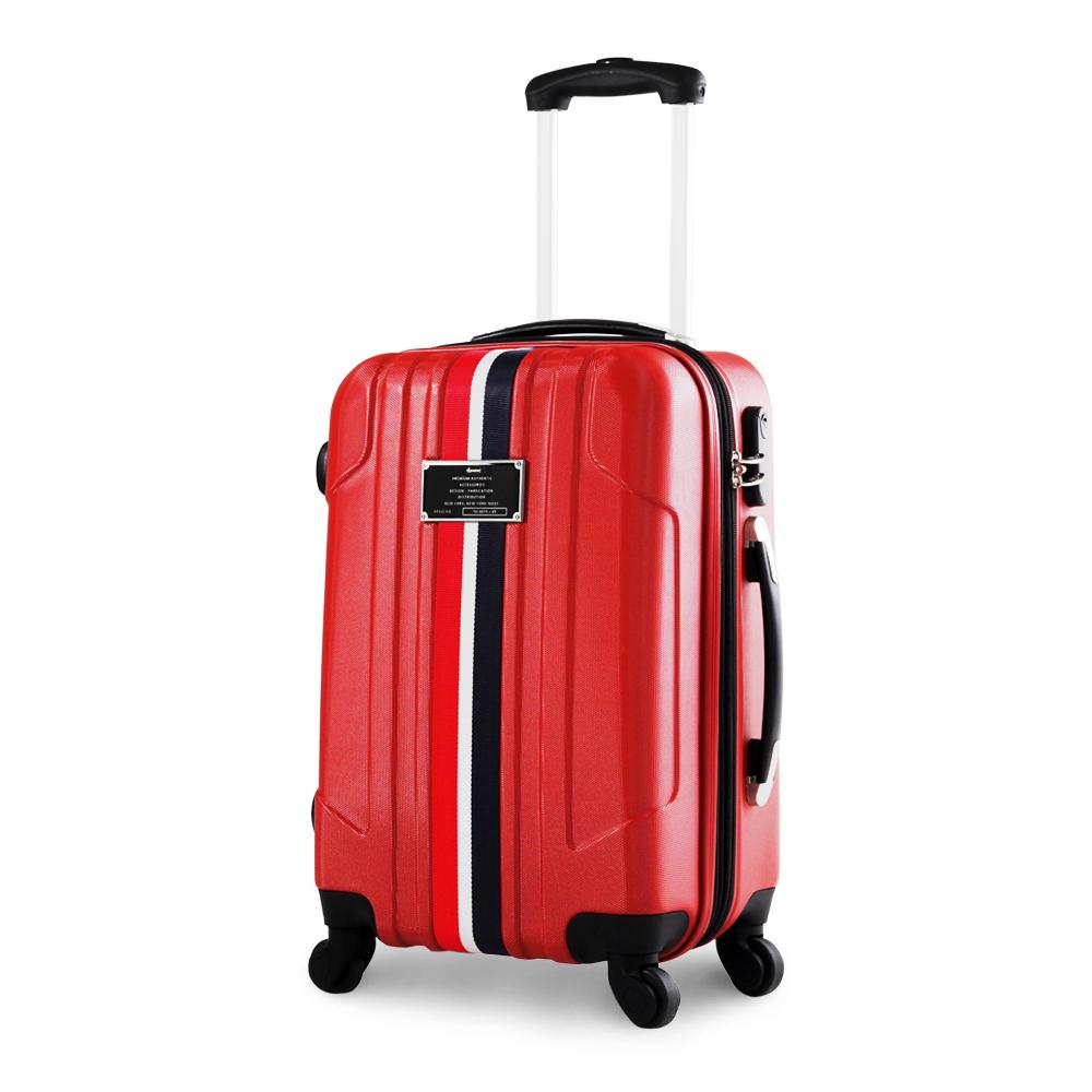 Rowana 愜意旅人經典織帶行李箱 20吋(紅色)