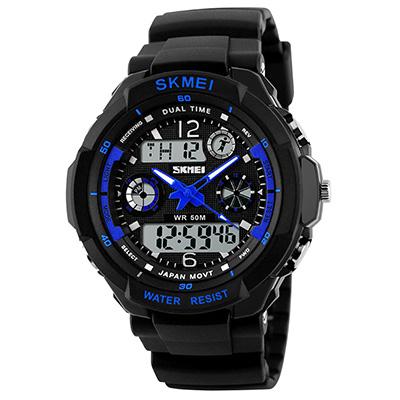SKMEI 時刻美0931-雙機芯多功能防震防水電子錶(4色任選)