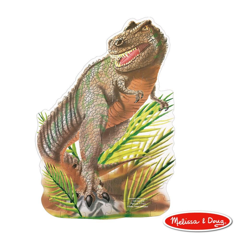 美國瑪莉莎 Melissa & Doug 大型地板拼圖 - T-Rex 暴龍 48 片
