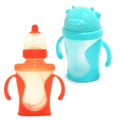 【貝喜力克】兩用訓練杯(含吸管組)+滑蓋喝水杯