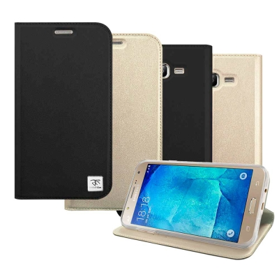 Metal-Slim Samsung Galaxy J7 時尚超薄側翻立架皮套