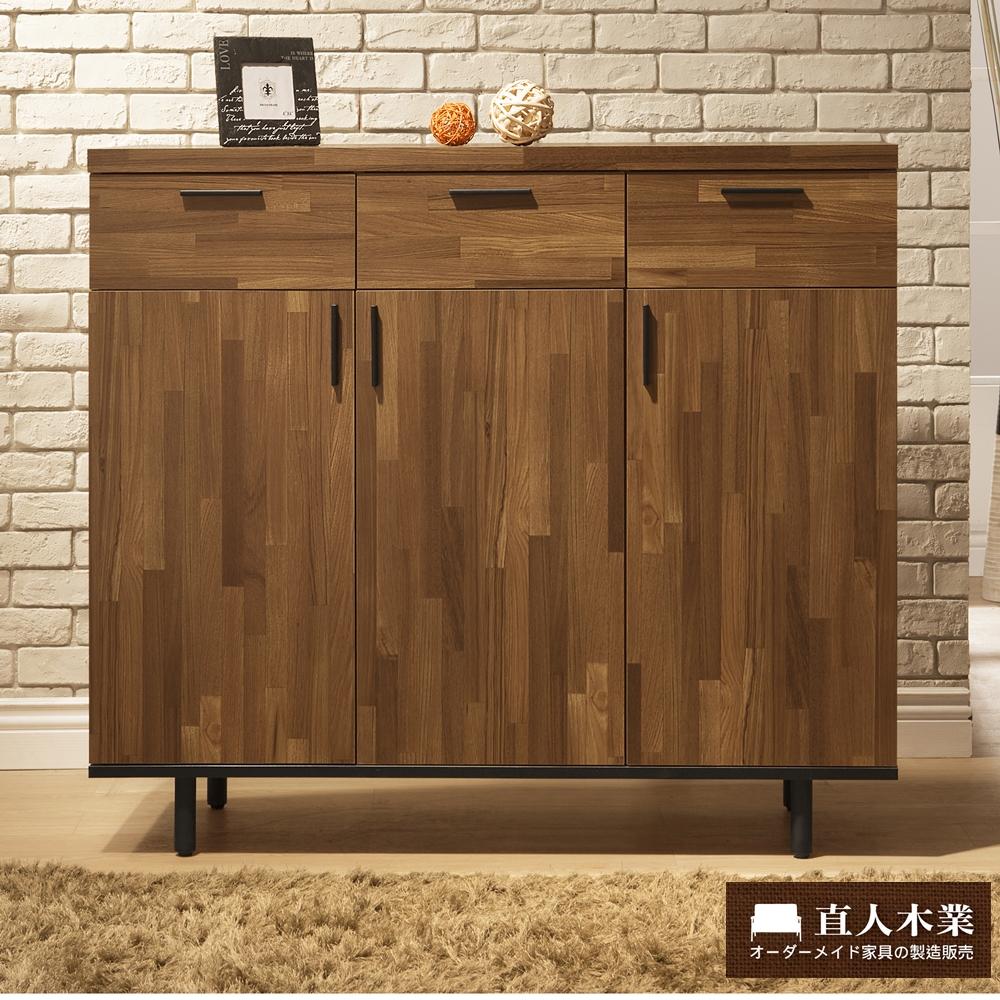 日本直人木業傢俱-工業生活120CM鞋櫃(120x40x106cm)免組