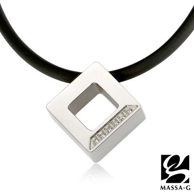 MASSA~G LJ純鈦系列~晶點‧瑟蕾娜~方塊晶點 鍺鈦項鍊