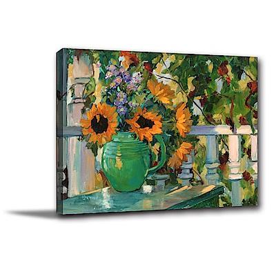 24mama掛畫-單聯式橫幅 掛畫無框畫 門前的庭院 40x30cm