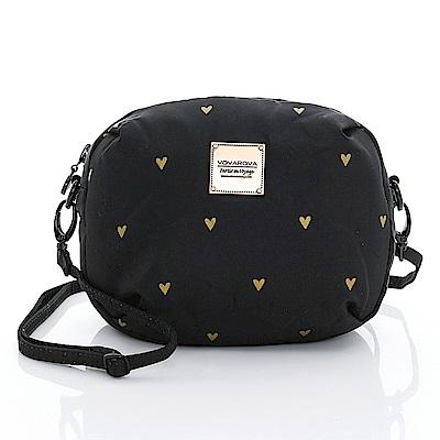VOVAROVA空氣包-圓鼓鼓側背包-心空閃耀(黑)