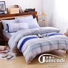 喬曼帝Jumendi-水色狂想 台灣製加大四件式特級100%純棉床包被套組