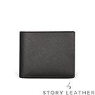 STORYLEATHER - 牛皮短夾 00163-A30 十字紋黑現貨
