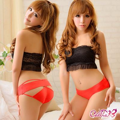 內褲-夏日午後美臀造型棉質內褲-紅色-Caelia