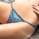 LADY 慾望伊絲塔系列 低腰三角褲(晶鑽藍)