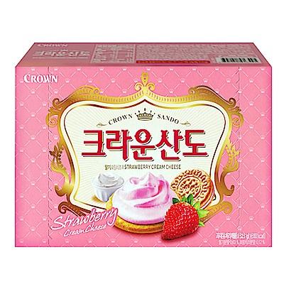 韓國Crown 草莓三明治餅乾(161g)