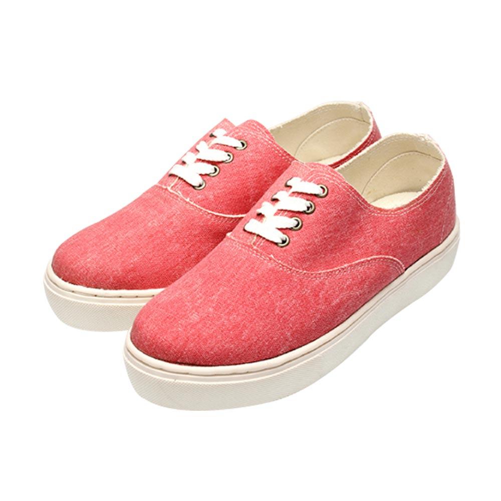FUFA MIT  牛仔感素面便鞋 (FL11)-粉色
