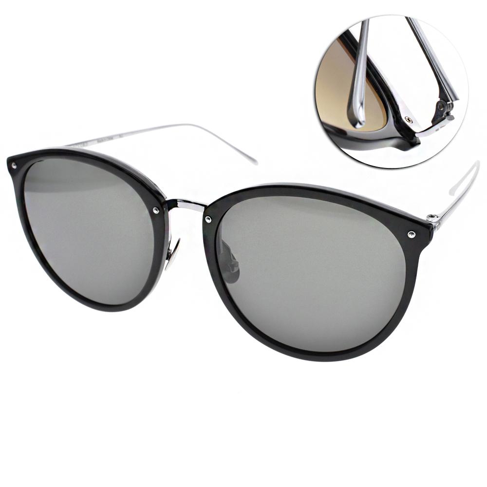 NINE ACCORD太陽眼鏡 貓眼大框/黑-銀#KISSING-NOEL C01