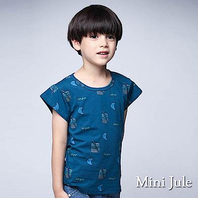 Mini Jule上衣 月亮水杯印花短袖上衣(淺藍)