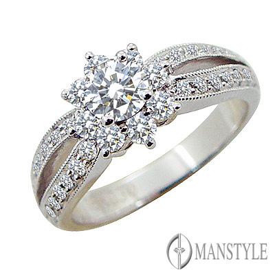 MANSTYLE DIAMOND「燦爛的日子」0.30ct 八心八箭鑽戒