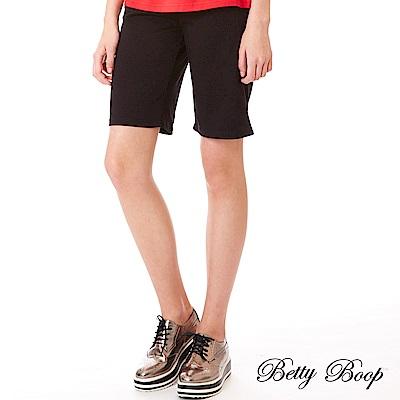 Betty Boop貝蒂 口袋金蔥貼布鬆緊五分褲(共兩色)