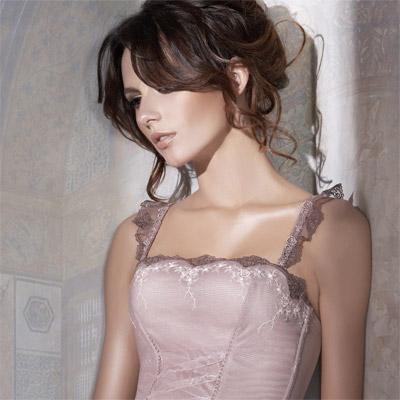 【La Felino】瑰麗公主玫瑰刺繡性感馬甲 (藕紫)