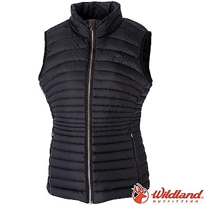 Wildland 荒野 0A52171-54黑色 女700FP輕量時尚羽絨背心