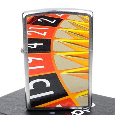 ZIPPO美系-Roulette Wheel-輪盤圖案彩印加工打火機