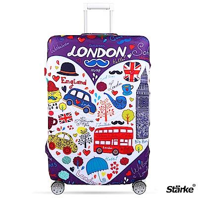 Starke 適用27-30吋高彈性行李箱套 -紫心倫敦