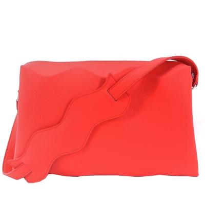 ISSEY MIYAKE 三宅一生PLEATS PLEASE甲殼WAVE側肩背(紅)