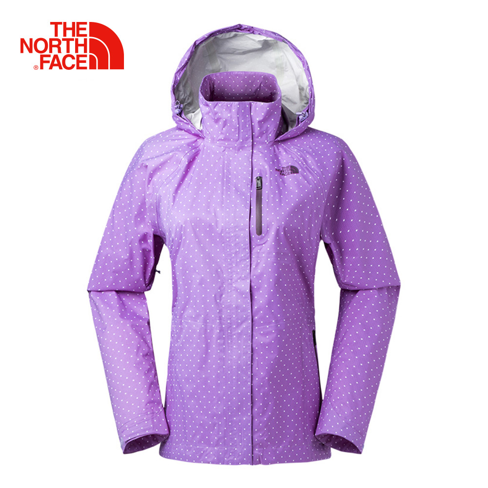 The North Face女款紫色DRYVENT防水透氣衝鋒衣