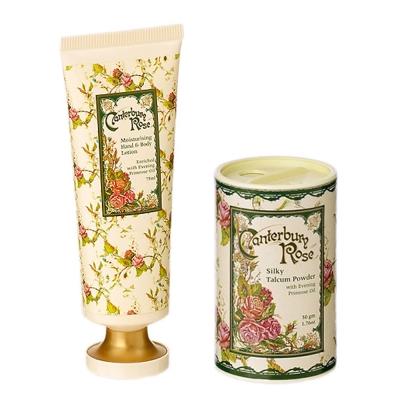 Maiggan英國坎特伯里玫瑰精油護手霜+香粉組合