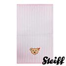 STEIFF德國金耳釦泰迪熊 - 粉色 直條紋 小毛巾 (嬰幼兒衛浴系列)