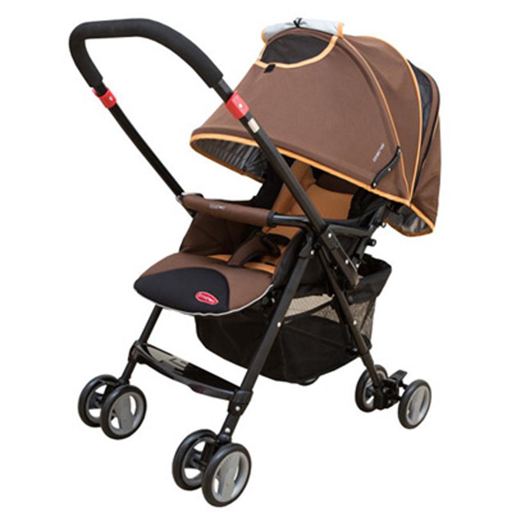 【麗嬰房】美國 SYNCON 欣康 全罩式雙向輕便手推車(咖啡色)