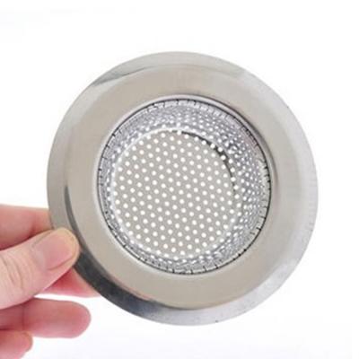 PUSH廚房用品外徑90MM內徑58MM深度20MM密合式不鏽鋼流理台水槽濾網