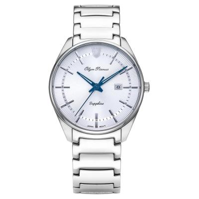 奧柏表 Olym Pianus 都會光采石英腕錶-藍   5698MS