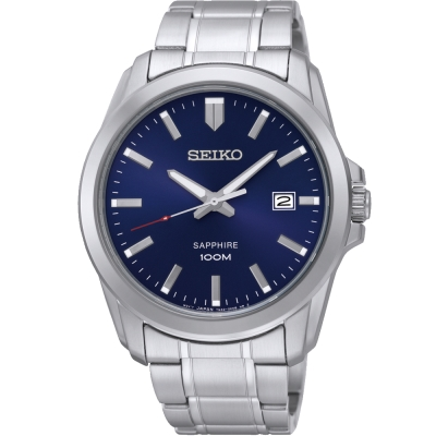 SEIKO CS簡約質感時尚腕錶(SGEH47P1 )-藍/41mm