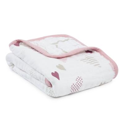 美國aden+anais嬰幼兒外出被毯-愛心點點系列AA6093