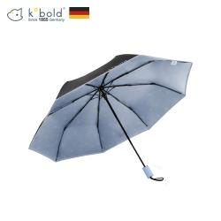 德國kobold酷波德 抗UV旋轉芭蕾系列-超輕巧-隱藏傘珠-遮陽防曬三折傘-淺粉藍