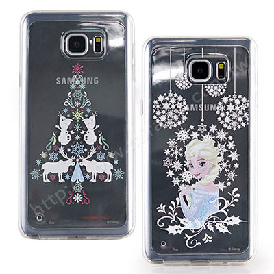 Disney Samsung Galaxy Note 5 聖誕冰雪雙料保護殼