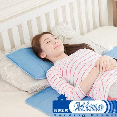 米夢家居-嚴選長效型降6度冰砂冰涼墊40*45CM坐墊或大枕頭用2入