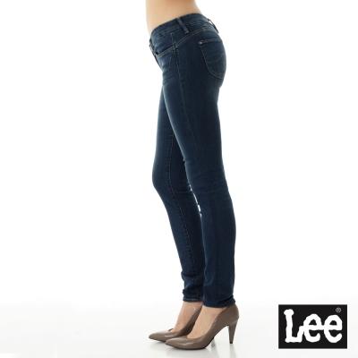 Lee 牛仔褲 402 低腰緊身窄管-女款-中藍