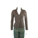 SCHUMACHER 灰綠色皺褶設計西裝外套